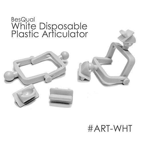 BesQual White Disposable Plastic Articulators (500 Set/Bag) 604-102 by BesQual