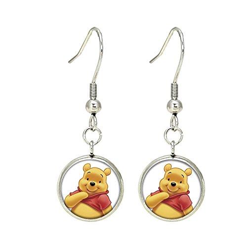 (Winnie the Pooh Fashion Novelty Dangle Earrings Movie Cartoon Series with Gift)