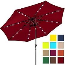 Best Choice Products 10ft Deluxe Patio Umbrella w/ Solar LED Lights, Tilt Adjustment