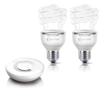 Philips LivingWhites Bombilla espiral de bajo consumo 872790092618700 - Lámpara (20 W, 88 W, E27, 870 lm, Blanco cálido, 8000 h)