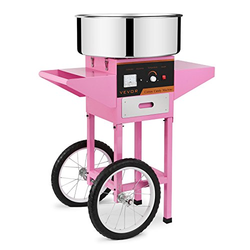 FoodKing Cotton Candy Machine Candy Floss Maker Electric Floss Maker Cart Kit Commercial Use 1030W for Wedding Party (Cotton Candy Machine with Cart) by FoodKing (Image #9)