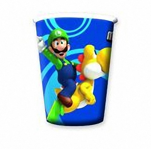 Wii Blue Sleeves (Super Mario Bros.wii Party Cups - 8)