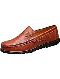 QZYYU-1805 Mens Charming Breathable Formal Occasions Comfy Slip On Boat Shoes Lightweight Slide Moccasins Bussiness Penny Loafers Simple