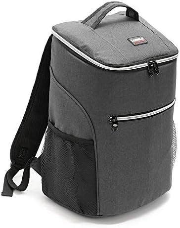 QUAN Storage Bag よく作られた屋外のピクニック絶縁Backpackageオックスフォード布防水Backpackage(レッド) (色 : Gray)
