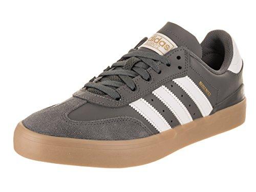 adidas Busenitz Vulc RX (Grey/White/Gum) Men's Skate Shoes-10.5
