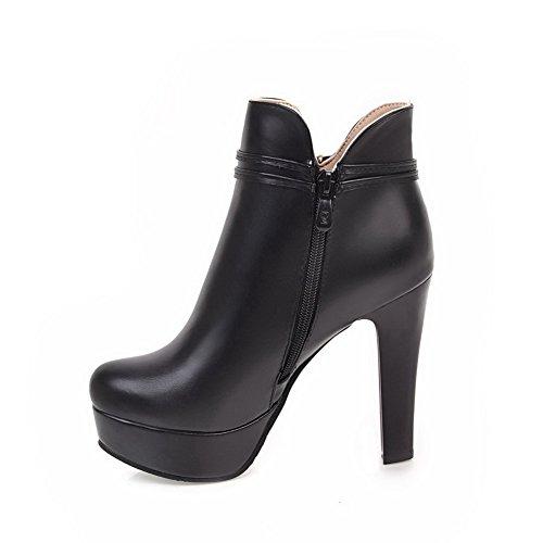 ABL10630 High Black BalaMasa Womens polypropylene Beaded Platform Ankle Boots Faw46qT
