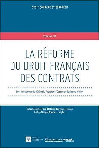 Livre pdf gratuit a telecharger en francais La réforme du droit français des contrats