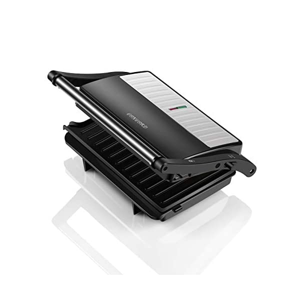 Concord Sandwich Maker/Grill 1000 Watts (with 180° Opening, Oil Drip Tray and1.5 Metre Long Cord)) 2021 July 2-Slice Sandwich Grill, 1000 Watts Opens 180 degree as Open Grill With Oil Drip Tray, Oil Drip Design on the Grill