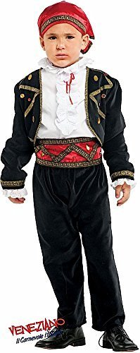Italian Made Baby & Older Boys Super Deluxe Fortune Teller Pirate Carnival Halloween Fancy Dress Costume Outfit 0-10 years (7 years) ()
