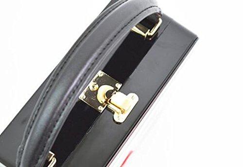 Stati Uniti Acrilico Small Borsa Degli In La E Moda Europa New Red WenL Square Red Bag OSqfx