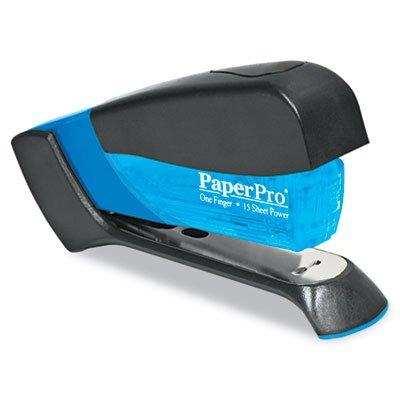 Compact Stapler, 15-Sheet Capacity, Translucent Blue