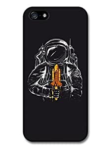 AMAF ? Accessories Astronaut Illustration Space Shuttle Ice Cream case for iPhone 5c