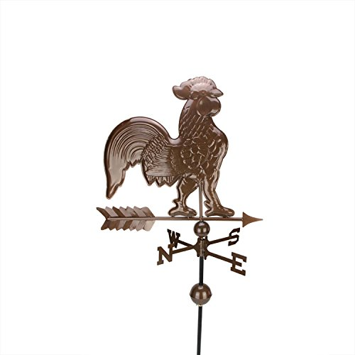 - DAK Polished Chocolate Rooster Outdoor Weathervane, 3' , Brown