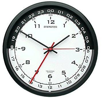 Trintec 12 & 24 Hour Military Time Swl Zulu Time 24hr Wall Clock 10