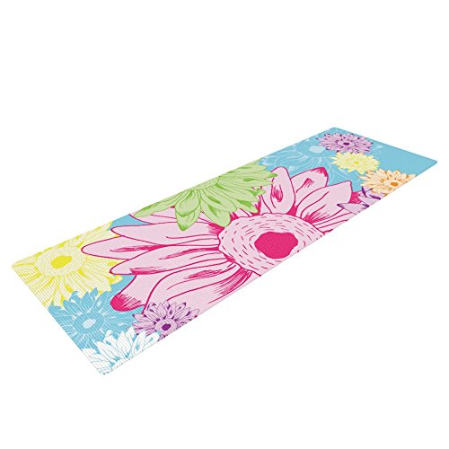 Kess InHouse Laura Escalante Yoga Exercise Mat, Summer Time, 72 x 24-Inch