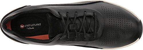 CLARKS Women's Un Cruise Lace Black Leather 11 B US by CLARKS (Image #1)