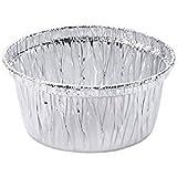 Made in USA; Aluminum Foil Muffin Cupcake Ramekin Cups (4 oz) Disposable (50)