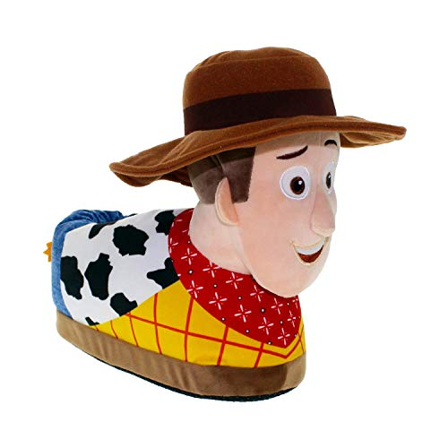 7036-1 - Disney-Pixar Toy Story - Woody Slippers - Small - Happy Feet Mens and Womens Slippers -