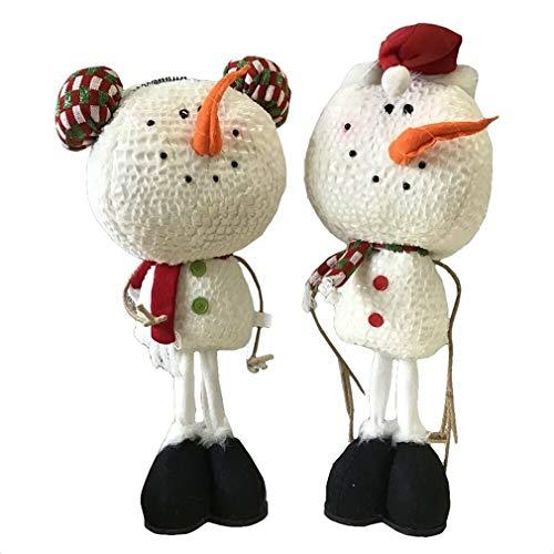 Ky & Co YesKela 2 Piece Plush Standing Snowman Figurines Set ()