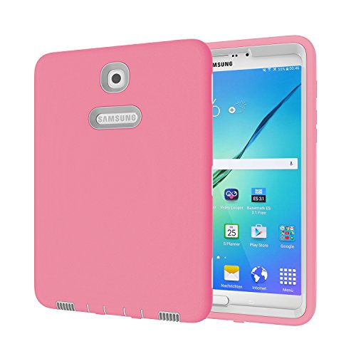 Galaxy Tab S2 8.0 Case, Beimu 3 in 1 Hybrid PC+ Silicon Shockproof Impact Resistant Corner/Bumper Protection Armor Defender Case Cover for Samsung Galaxy Tab S2 8.0 SM-T710/SM-T715 (Tmobile S2 Case Samsung Galaxy)