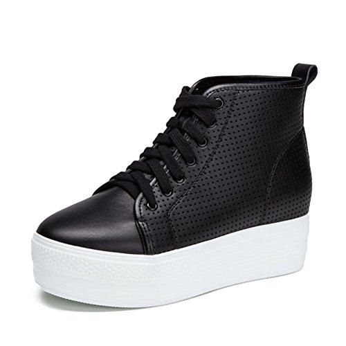 Zapatos ocasionales de las mujeres/Plataforma altura zapatos/Zapatos del deporte/Zapatos de malla calada plana B