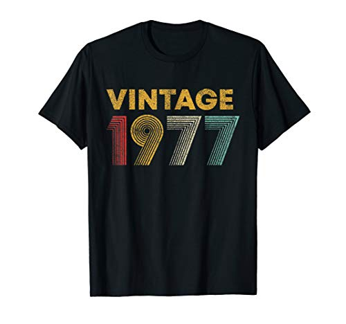 - 42nd Birthday Gift Idea Vintage 1977 T-Shirt Men Women