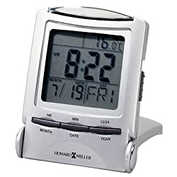 MIL645358 - Howard Miller Travel Alarm Clock