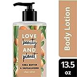 Love Beauty and Planet Shea Butter & Sandalwood Body Lotion, Shea Velvet, 13.5 oz