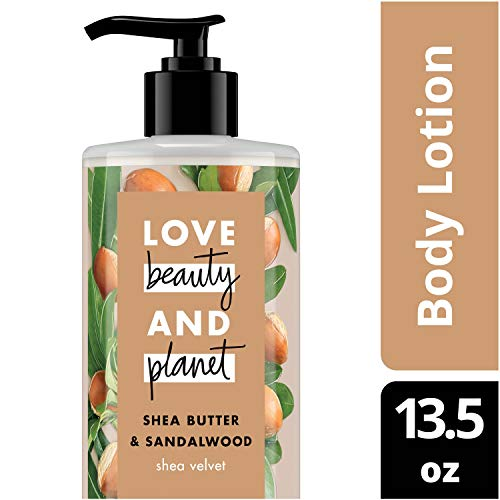 Love Beauty and Planet Shea Butter & Sandalwood Body Lotion, Shea Velvet, 13.5 oz