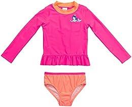 Baby Girls Infant Long Sleeve Pocket Mermaid Rash Guard Set