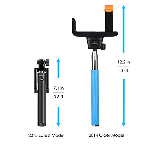 selfie stick nootproducts locust series compact portable self portrait extendable monopod with. Black Bedroom Furniture Sets. Home Design Ideas