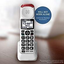 Panasonic KX-TGMA44W Amplified Additional Cordless Handset for KX-TGM420W, White