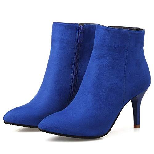 Corti Blue Tacco NIGHTCHERRY Donna Stivali Alto Cerniera q7OwIZYx