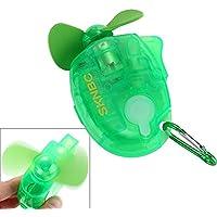 SKNBC Carabiner Water Misting Fan Portable Mini Fan Green