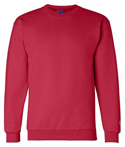 Scarlet Pullover Sweatshirt (Champion S600 Eco Crewneck Sweatshirt - Scarlet, 3XL)