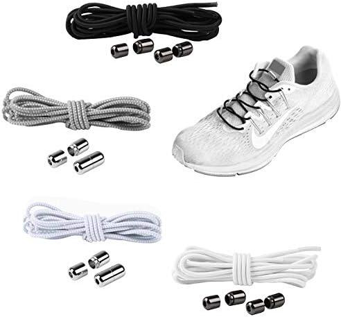 YAVO-EU Cordones elásticos Sin Nudo para Zapatillas (4 piezas 4 colores) para Maratón y Triatlón Atletas,Corredores,Niños, Ancianos Adultos: Amazon.es: Zapatos y complementos
