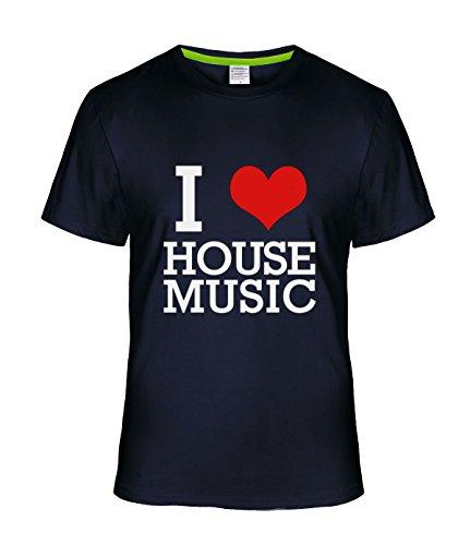 Fatal Decision Men's I Love House Music Geek Tshirt