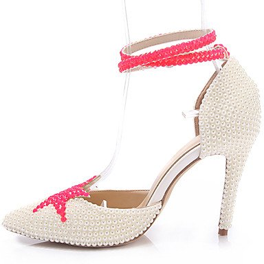 Comfort Hollow Women'S Stiletto Fall Buckle Us5 Evening 5 Zormey White Leather Crystal Party Spring UK3 Winter US5 White 5 Uk3 Heel Pearl amp;Amp; Heels 5 Summer Wedding Eu36 Cn35 CN35 5 EU36 Out Y7TadqT