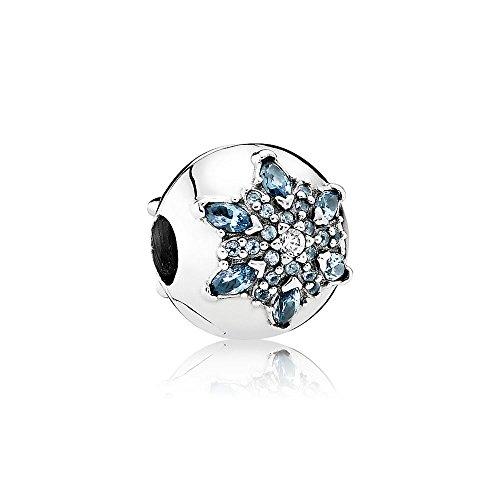 [판도라] PANDORA Crystallised Snow후레이크 클립 (실버 믹스 스톤) 정규 수입품 791997NMB