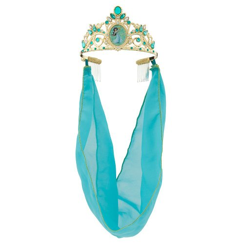 [Disney Store Deluxe Jasmine Jeweled Tiara Crown Aladdin] (Princess Jasmine Costumes Tiara)