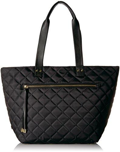 Utiliti Quilted Tote, Black (Nylon Quilted Handbag)