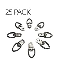 Old Timer Industries, Picture Hangers, for: Hanging picture frame, Home Decor, Art Projects, and more! Heavy Duty D-Ring style wall hangers (25 Hangers & 25 Screws)