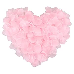 1000 Pcs Silk Artificial Rose Petals Wedding Party Decorations, Light Pink 4