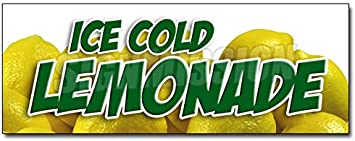 """Fresh Squeezed Lemonade Decal 14/"""" Cold Drinks Food Truck Concession Restaurant"""