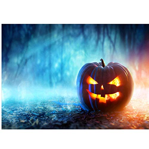 DIY 5D Diamond Painting,Dartphew Scary Pumpkins & Fantastic Halloween - Crafts & Sewing Cross Stitch,Wall Stickers for Home Living Room Decoration(Halloween,Size:40x30cm)]()