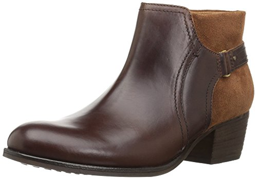 CLARKS Womens Maypearl Lilac Ankle Bootie, Dark Tan, 9.5 M US