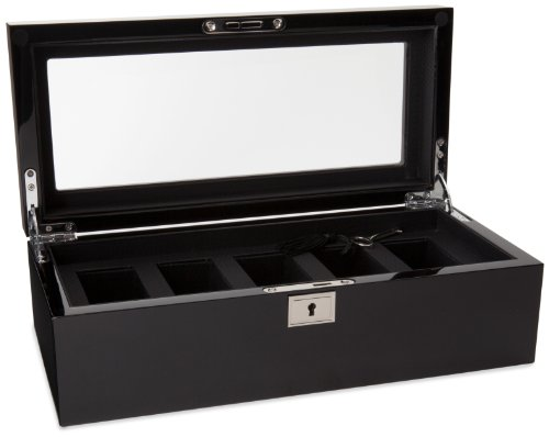 WOLF Watch Storage case, Color:Black (Model: 461570)