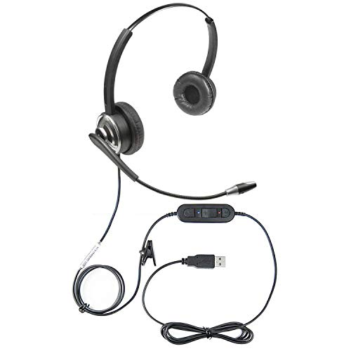 Microphone Voice Recognition Software - ECS WordCommander USB Dual Speaker Voice Recognition Dictation Headset with Noise Cancellation Microphone