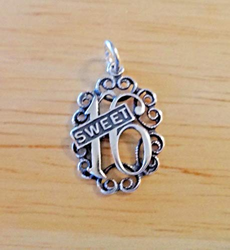 Fine Charms Sterling Silver 20x15mm Cut Out Sweet 16/16th Birthday SHB