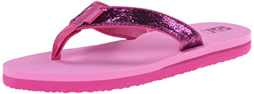 Teva Mush II Kids Flip Flop Sandal (Little Kid/Big Kid), Pink Glitter, 7 M US Big Kid